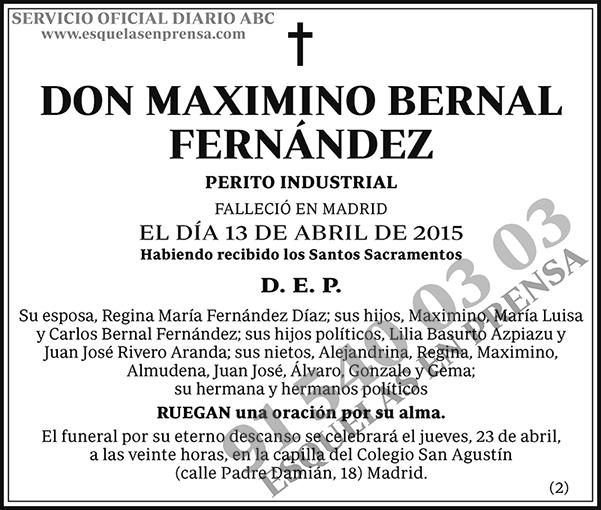 Maximino Bernal Fernández